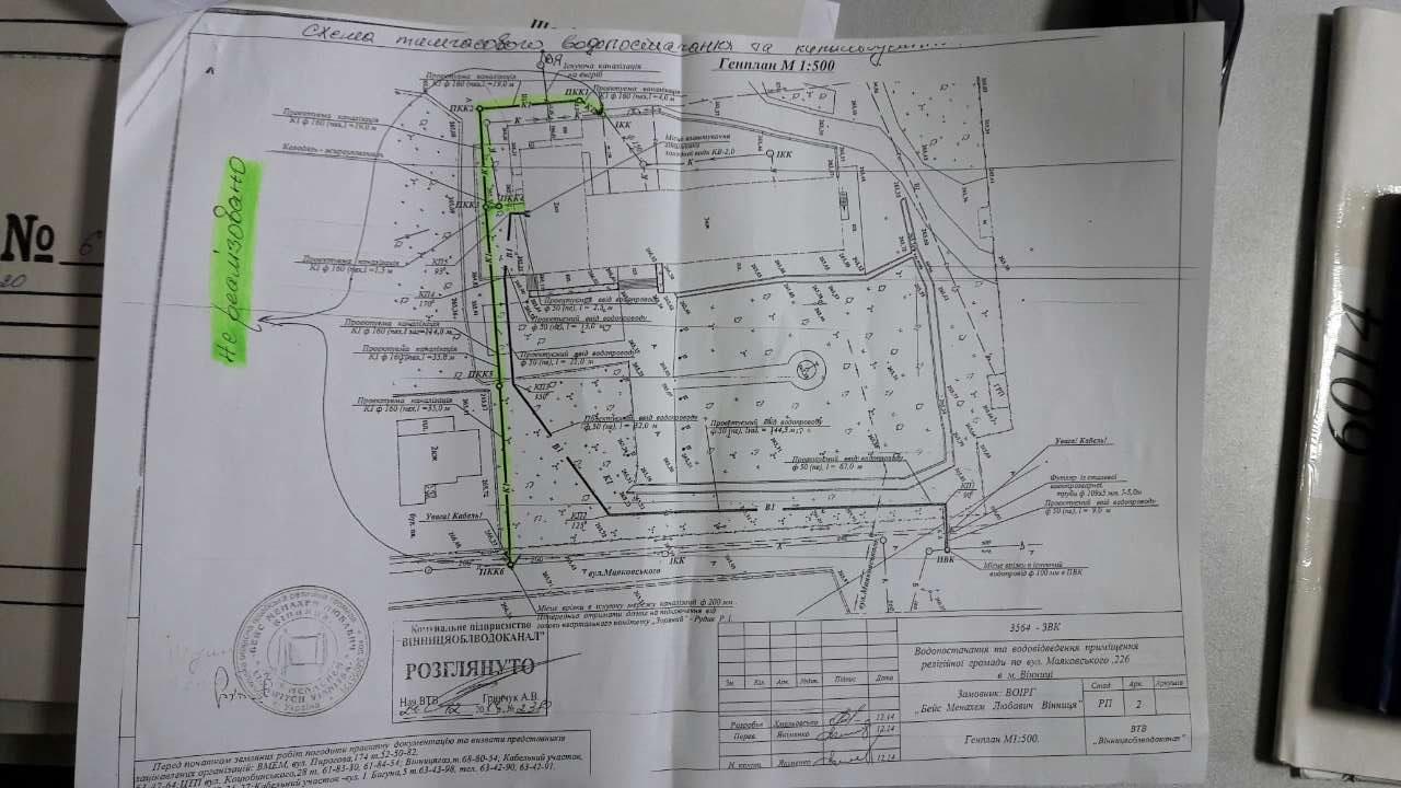 Tekening plan aanleg riolering
